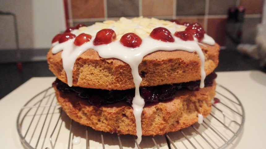 Cherry Bakewell Cake (33)
